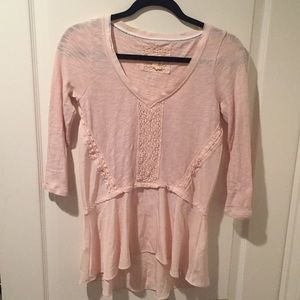 Anthropology pink tunic top
